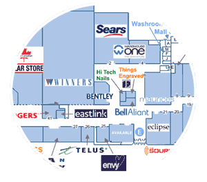 Yarmouth Mall - floor plan excerpt